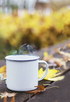 Autumn coffee morning