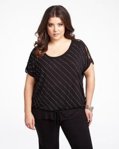 studded top with lace | Shop Online at Addition Elle