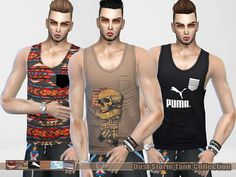 Dust Storm Tank Tops Collection (male) by Pinkzombiecupcakes at TSR • Sims 4 Updates