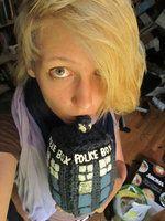 Doctor Who Crochet Tardis