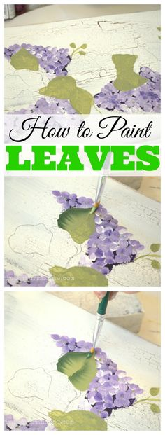 Learn to paint simple leaves, fast and easy