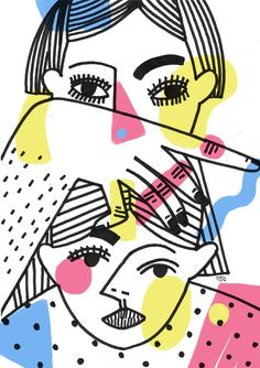3144 / july 2016 / Karolina Koryl Graphic Design Illustration, Illustration Art, Posca Marker, Tableau Pop Art, Art Graphique, Mail Art, Illustrations Posters, Art Inspo, Design Art