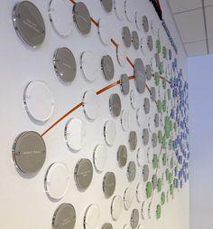 MPC Donor Wall detail. By Liska+Associates. Designer Sabine Krauss