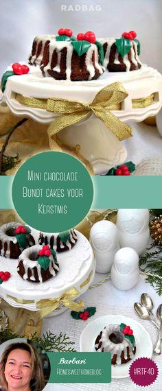 Kerstmis is weer daar, tijd om na te denken over lekkere receptjes! Wat dacht je van mini chocolade bundt cakes als vervanging van die saaie Kerststronk?