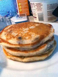 Vegan Banana Blueberry Pancakes - #dairyfree #vegan #recipe