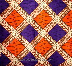 African Fabric, WP031B,  Wax  Print, Cotton fabric, Per 1/2 Yard.