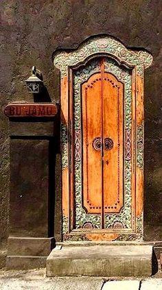 Decorated door, Seminyak, Bali, Indonesia