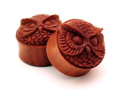 Sono Wood Owl Face Plugs - 3/4 Inch - 19mm - Sold As a Pair Mystic Metals Body Jewelry http://www.amazon.com/dp/B007SY3I7S/ref=cm_sw_r_pi_dp_nkOTub1984BQR