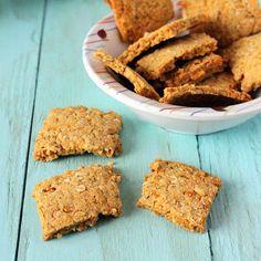 Chickpea Fennel Crackers. Vegan, glutenfree
