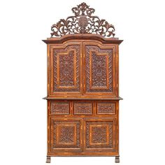 Late 17th-Early 18th Century Peruvian Cupboard Made of Exotic Woods Inlaid | From a unique collection of antique and modern cupboards at https://www.1stdibs.com/furniture/storage-case-pieces/cupboards/
