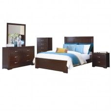 Stunning bedroom set with a bed, side table, almirah and a foot bed ...