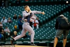 Conor McGregor is mercilessly mocked for 'TERRIBLE' first pitch at Chicago Cubs game | Daily Mail Online