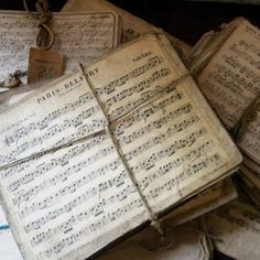 Include vintage text or sheet music