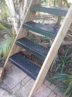 Our own design checker-plate pattern fibreglass stair treads Wendy House, Jungle Gym, Stair Treads, Stairs, Plate, Pattern, Fun, Design, Home Decor