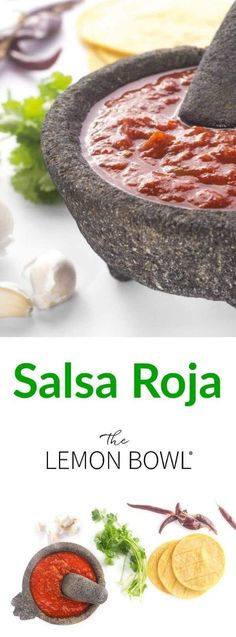 Salsa Roja an authentic Mexican recipe is a common sauce for tacos chilaquiles beans you name it! Essentially anything you wish to make spicier. Appetizers For Party, Appetizer Recipes, Mexican Appetizers, Best Gluten Free Recipes, Healthy Recipes, Dip Recipes, Easy Recipes, Vegetarian Recipes, Authentic Mexican Salsa