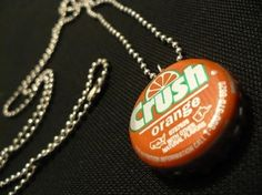 Recycled crafts: How to make a bottle cap necklace