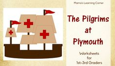 set of Pilgrims at Plymouth Worksheets for Graders - word search, definitions, peace treaty with Chief Massasoit, Mayflower Compact Thanksgiving History, My Father's World, Study History, Mayflower Compact, Word Search, Pilgrims, Social Studies, Printable Worksheets
