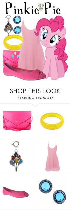 """""""Pinkie Pie (My Little Pony: Friendship is Magic)"""" by fabfandoms ❤ liked on Polyvore featuring Glamorous, Refresh, Cutie and 1928"""