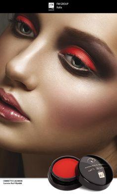 Prodotto - Ombretto Cashmere Carmine Red - Federico Mahora FM GROUP Italia #fmgroup #fmgroupitalia #makeup #eyeshadows #eyes