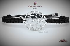 Alison//925 Sterling Silver CZ Bracelet and adjustable thread to the wrist. The central component is entirely realized by the best italian artisans.