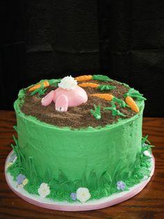 """Bunny """"Butt"""" Cake — Easter"""