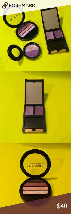 Makeup Cosmetics Combo Goodie Bag • Sephora / Colorful Palette • Too Faced / Party Girl • Lancôme / Iris and Lavande  #makeup #sephora #lancome #purple #shimmer #sparkles #cosmetics #palette #deals #sale #discounts Sephora Makeup Eyeshadow