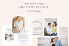Wedding Photography Magazine Template - New Client Studio Welcome Packet - Digital Wedding Photographer Brochure - Bridal Guide