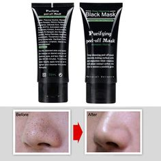 1PCS Deep Cleansing Purifying Peel Off Black Mask Mud Black Head Face Mask Remove Blackhead Face Mask 50ml