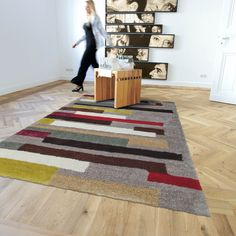 Shaggy Rug Collection by Arte Espina with Free UK Delivery Green Carpet, Carpet Colors, Lounge Rug, Taupe, Tapis Design, Chiffon, Grey Room, Cheap Carpet Runners, Striped Rug