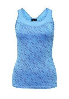 Майка спортивная Nike W NP HPRCL TANK CASCADE Майка спортивная Nike. Цвет: синий.  Сезон: Осень-зима 2016/2017. Одежда, обувь и аксессуары/Женская одежда/Футболки и топы