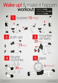 Good work out after you wake up..should try it.