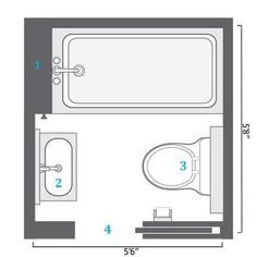 Small Bathroom Plans | Small Bathroom Floor Plans: A Space 6x7 Ft. Is  Almost The | Home: Master Bath Ideas | Pinterest | Small Bathroom Floor  Plans, Small ...