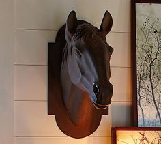 Horse Head Sculpture #potterybarn I have to have this!!!!!