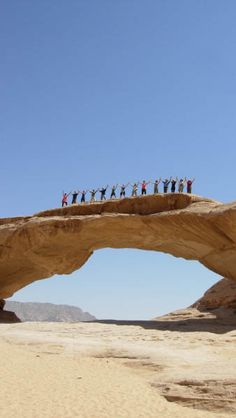 One of the gorgeous arches in Wadi Rum Desert, Jordan.