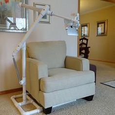 printer design printer projects printer diy Уютный дом Уютный дом This is an iPad (or other tablet) stand made from PVC pipe and other com. Pvc Pipe Crafts, Pvc Pipe Projects, Diy Crafts, Pvc Patio Furniture, Painted Furniture, Furniture Ideas, Furniture Layout, Pvc Chair, Pvc Pool