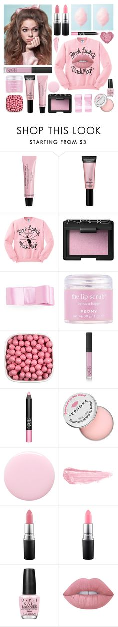 """Missing Childhood; Cotton Candy Lips"" by restyikhyar ❤ liked on Polyvore featuring beauty, Beauty Rush, NARS Cosmetics, L. Erickson, Sara Happ, Sephora Collection, Nails Inc., By Terry, MAC Cosmetics and OPI"