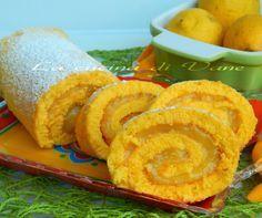Girelle al limone con bimby e senza, ricetta dolce senza latte, senza olio senza burro, ricetta dolce con limone, ricetta rotolo goloso.
