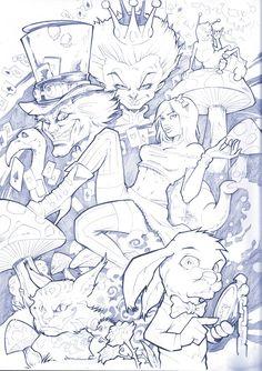 Alice in wonderland pencil by Vinz-el-Tabanas on DeviantArt