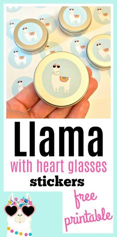 Adorable Llama with heart glasses stickers in both round and square shapes to go on any type of birthday party favor package you have in mind! Birthday Party Favors, Birthday Party Decorations, Birthday Parties, Themed Parties, Party Party, Party Themes, Baby Shower Printables, Free Printables, Llama Birthday