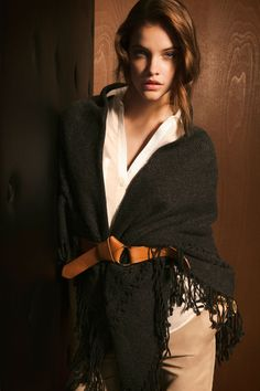 Massimo Dutti - XL SCARF WITH FRINGES - SILK SHIRT WITH POCKETS  - STUDDED BELT WITH FIXED KNOT .