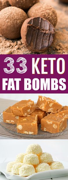 The BEST keto FAT BOMBS recipes! If you want to boost your fat intake on a keto diet or low carb diet, fat bombs are a great way to do it! In this post, I've compiled 33 droolworthy keto fat bombs recipes for you to try. Low Carb Paleo, Keto Fat, Low Carb Diet, Low Carb Recipes, Paleo Diet, 7 Keto, Dukan Diet, High Fat Keto Foods, Vegan Recipes