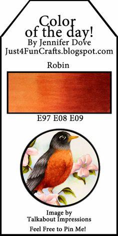 Copic Color Combos: Coloring a Robin via Jennifer Dove