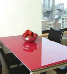 Back Painted Glass Table Top   What A Great Way To Get That High   Gloss
