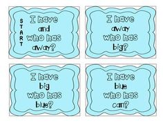 """""""I have, who has?"""" Pre-Primer Sight Words"""