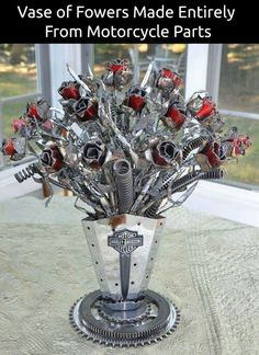 Made out of Motorcycle parts...YEP...I WANT IT!