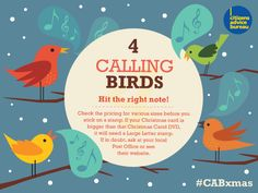 Hit the right note - check the pricing for various sizes before you stick on a stamp #CABxmas