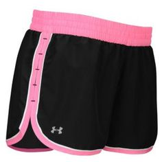 """Under Armour Heatgear 3"""" Lightweight Woven Short - Women's - Black/Fluo Pink--- Maybe another option for bridesmaids gifts..."""