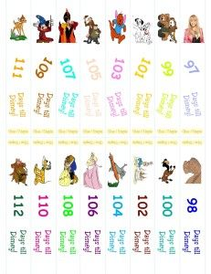 Disney Countdown Ring: I just printed off for 30 days. Really easy!!!                                                                                                                                                     More
