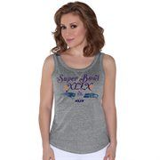 New England Patriots vs. Seattle Seahawks Touch by Alyssa Milano Women's Super Bowl XLIX Dueling Playoff Nubby Tri-Blend Tank Top – Gray