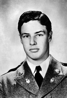 MARLON BRANDO's yearbook photo at Shattuck Military Academy, a boarding school in Minnesota. Brando was insubordinate to a visiting military officier and got sent to his room. He snuck out the window and went to town. As a result, he was expelled. It wasn't the first time.  Brando was expelled from Libertyville High School for riding his motorcycle through the hallways.